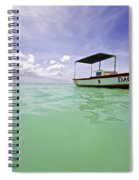 Colorful Fishing Boat Of The Caribbean  Spiral Notebook