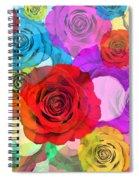 Colorful Floral Design  Spiral Notebook