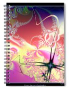 Colorful Frost Fractal 126 Spiral Notebook
