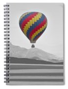 Colorful Hot Air Balloon And Longs Peak Spiral Notebook
