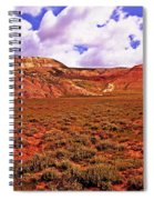Colorful Mesas At Fossil Butte Nm Butte Spiral Notebook