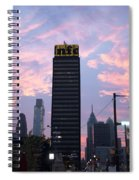 Colorful Morning Sky In Philly Spiral Notebook