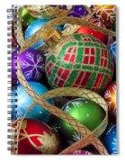Colorful Ornaments With Ribbon Spiral Notebook