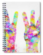 Colorful Painting Of Hands Number 0-5 Spiral Notebook