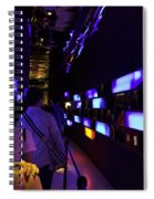 Colorful Passage Inside The Singapore Flyer Spiral Notebook