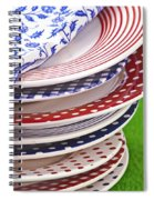Colorful Plates Spiral Notebook