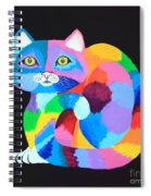 Colorful Rainbow Cat Spiral Notebook
