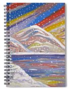 Colorful Snow Spiral Notebook