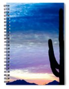 Colorful Southwest Desert Sunrise Spiral Notebook