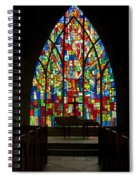 Colorful Stained Glass Chapel Window Spiral Notebook