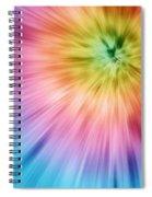 Colorful Starburst Tie Dye  Spiral Notebook