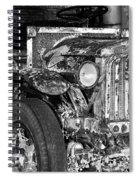 Colorful Vintage Car In Black And White Spiral Notebook