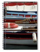 Colorful Wooden Boats Spiral Notebook