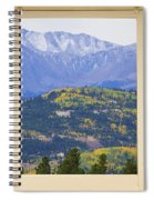Colorful Rocky Mountain Autumn Picture Window View Spiral Notebook