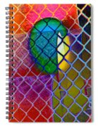 Colors Hiding Behind Fence Spiral Notebook