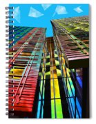 Colors In The City With Clouds Spiral Notebook