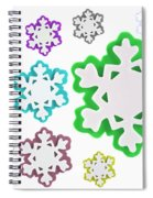 Coloured Snowflakes Isolated Spiral Notebook