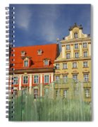 Colourful Buildings And Fountain Spiral Notebook