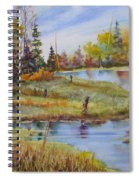 colours Of Elk Island Spiral Notebook