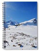 Columbia Icefield In Winter, Jasper Spiral Notebook