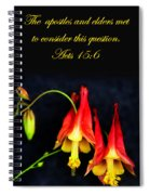 Columbine And Acts 15 16 Spiral Notebook