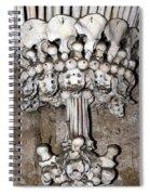 Column From Human Bones And Sku Spiral Notebook