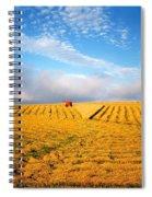 Combine Harvesting, Wheat, Ireland Spiral Notebook