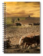 Combining And Thrashing Beans Spiral Notebook