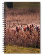 Combining Soybeans Spiral Notebook