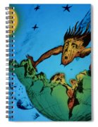 Comet Colliding With Earth Spiral Notebook