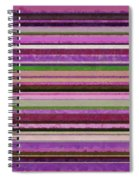 Comfortable Stripes Lll Spiral Notebook