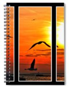 Coming Home Sunset Triptych Series Spiral Notebook