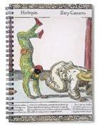 Commedia Delarte, 18th C Spiral Notebook