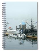 Commercial Lobster Dock Spiral Notebook
