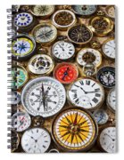 Compases And Pocket Watches  Spiral Notebook