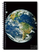 Composite Image Of Whole Earth Blue Spiral Notebook
