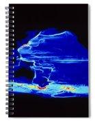 Computer Model Of Global Ocean Currents Spiral Notebook