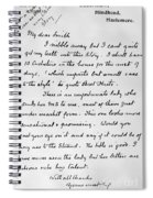 Conan Doyle: Letter Spiral Notebook