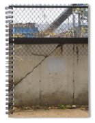 Concrete And Rusty Fence Spiral Notebook