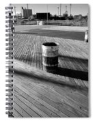Coney Island Boardwalk In Black And White Spiral Notebook