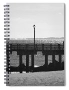 Coney Island Coast In Black And White Spiral Notebook