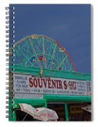 Coney Island Facade Spiral Notebook