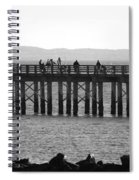 Coney Island Pier In Black And White Spiral Notebook