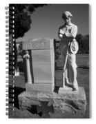 Confederate Soldier Memorial Spiral Notebook