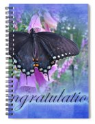 Congratulations Greeting Card - Spicebush Swallowtail Butterfly Spiral Notebook