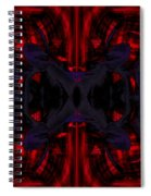 Conjoint - Crimson And Royal. Spiral Notebook