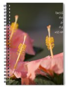 Consider The Lilies How They Grow Spiral Notebook