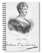 Constance De Salm Spiral Notebook