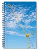 Construction Crane Spiral Notebook