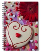 Cookie And Candy Hearts Spiral Notebook